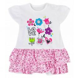 Dojčenské letné šaty Koala Rozalia Summer ružové