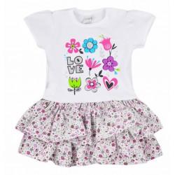 Dojčenské letné šatôčky Koala Rozalia Summer fialové