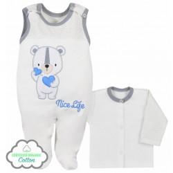 Dojčenská súpravička Koala Nice Life smotanovo-modrá