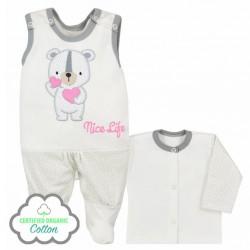 Dojčenská súpravička Koala Nice Life smotanovo-ružová