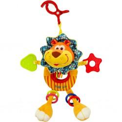 Detská plyšová hračka s hrkálkou Baby Mix levíča