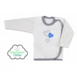Dojčenská košieľka Koala Nice Life smotanovo-modrá