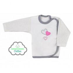 Dojčenská košieľka Koala Nice Life smotanovo-ružová