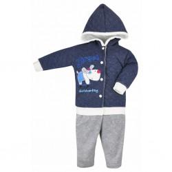 2-dielna detská súprava Koala Street modro-sivá