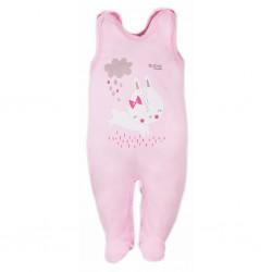 Dojčenské dupačky Bobas Fashion Mini Baby ružové