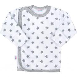 Dojčenská košieľka New Baby Classic II sivá s hviezdičkami