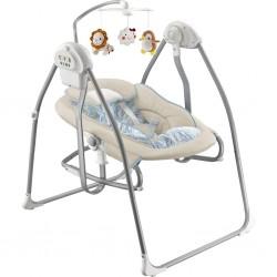 Detské lehátko s hojdačkou a kolotočom 2v1 Baby Mix beige
