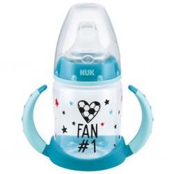 Dojčenská fľaša na učenie NUK Football 150 ml tyrkysová