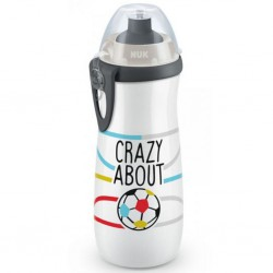 Detská fľaša NUK Sports Cup Football 450 ml sivá