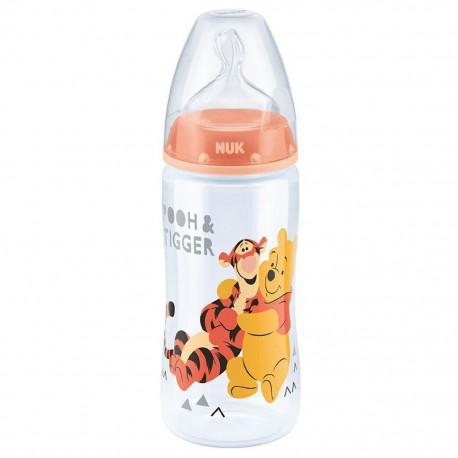Dojčenská fľaša NUK Medvedík Pú 300 ml oranžová