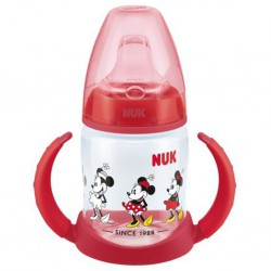 Dojčenská fľaša na učenie NUK Disney Mickey 150 ml červená