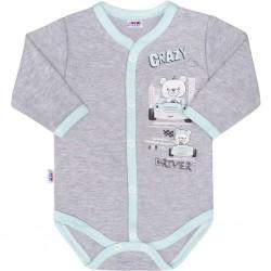 Detské celorozopínacie body New Baby Crazy Driver