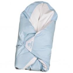Obliečka modrá s bodkami na zavinovačku Maxi Dráčik