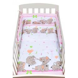 posteľné obliečky New Baby 90/120 cm ružové sloníky