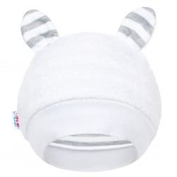 Luxusná detská zimná čiapočka s uškami New Baby Zebra