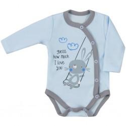 Dojčenské body celorozopínacie Koala Swing modré