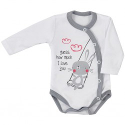 Dojčenské body celorozopínacie Koala Swing biele
