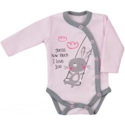 Dojčenské body celorozopínacie Koala Swing ružové