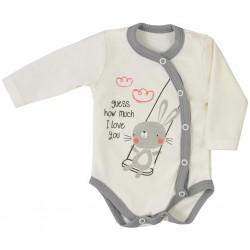 Dojčenské body celorozopínacie Koala Swing béžové