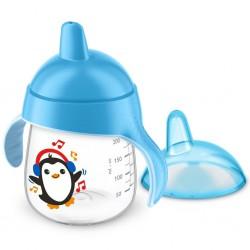 Kúzelný hrnček Avent Premium Pingu 260 ml modrý