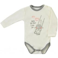 Dojčenské body s dlhým rukávom Koala Swing béžové