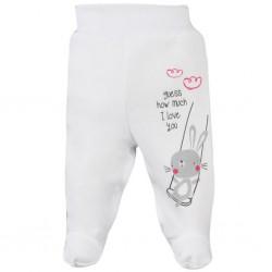 Dojčenské polodupačky Koala Swing biele