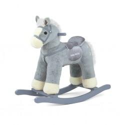 Hojdací koník Milly Mally PePe sivý