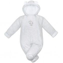 Zimná dojčenská kombinéza Baby Service Mouse svetlo sivá