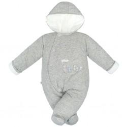 Zimná dojčenská kombinéza Baby Service Animals sivá