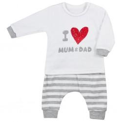Dojčenské tepláčky a tričko Koala Mum and Dad