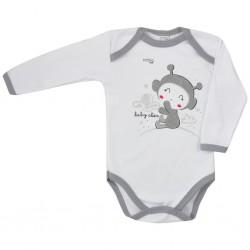 Dojčenské body s dlhým rukávom Koala Clouds biele