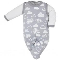2-dielna dojčenská súprava Koala Clouds biele obláčiky
