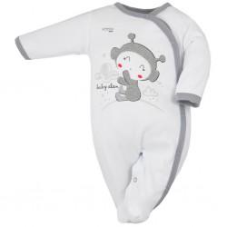 Dojčenský overal Koala Clouds biely