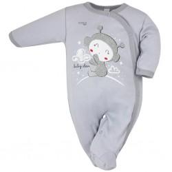 Dojčenský overal Koala Clouds sivý