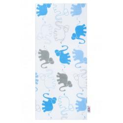 Flanelová plienka s potlačou New Baby biela so slonmi