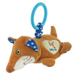 Plyšová hračka s vibráciou Baby Mix liška modrá