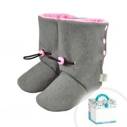 Dojčenské SoftShellové capačky Koala v krabičke ružové 6-11 mesiacov