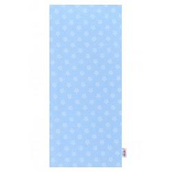 Flanelová plienka s potlačou New Baby modrá hviezdičky biele