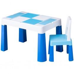 Detská sada stolček a stolička Multifun blue