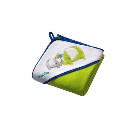 Osuška s kapucňou Velour 100x100 - green