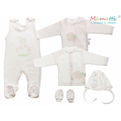 6-dielna súprava do pôrodnice Mamatti LITTLE SWEET HEART ecru