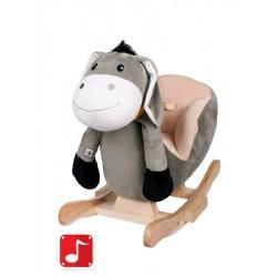 hojdací koník s opierkou oslík sivý PlayTo