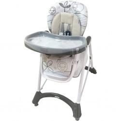 Jedálenská stolička s novorodeneckou vložkou Baby Mix dark grey