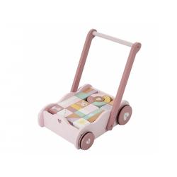 Little Dutch drevený vozík s kockami