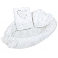 hniezdo pre bábätko New Baby Srdiečko biele
